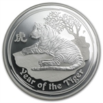 2010 Year of the Tiger - 1 oz Proof Silver Coin (SII) NGC PF-69