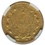 1869 BG-826 Round Liberty 25 Cent Gold MS-62 NGC