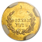 1870 BG-1010 Liberty Round 50 Cent Gold AU-58 NGC