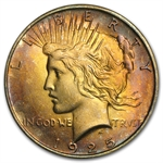 1925 Peace Dollar MS-64 - Attractive Peach Toning