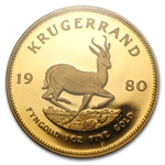 1980 1 oz Gold South Africa Krugerrand PCGS PR-68