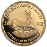 2002 1/10 oz Proof Gold South African Krugerrand NGC PF69UC