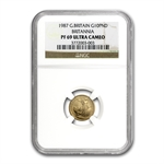 1987 1/10 oz Proof Gold Britannia PF-69 UCAM NGC