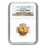 1987 1/4 oz Proof Gold Britannia PF-70 UCAM NGC - Registry Set