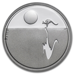 Royal Australian Mint 2011 Silver $1 Kangaroo at Sunset