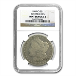 1889-O Good-6 NGC 90 Degree CW Rotated Reverse Mint Error