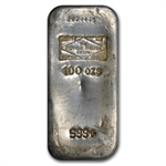 100 oz Sheffield Smelting Co. Ltd Silver Bar .999 Fine