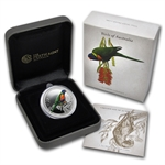 2013 1/2 oz Silver Rainbow Lorikeet - Birds of Australia