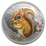 2013 1/2 oz Proof Silver Forest Babies - Red Squirrel