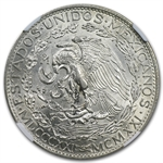 Mexico 1921 2 Pesos Silver Winged Victory MS-63 NGC
