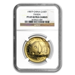 1987 (1 oz Proof) Gold Chinese Pandas - PF-69 UCAM NGC