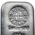 500 gram Argor-Heraeus Silver Bar (1/2 kilo, Switzerland)