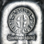 250 gram Argor-Heraeus Silver Bar (1/4 kilo, Switzerland)