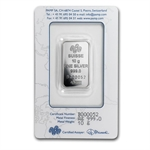 10 gram Pamp Suisse Silver Bar - Fortuna (In Assay) .999 Fine
