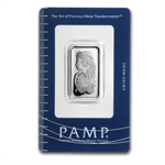 10 gram Pamp Suisse Silver Bar - Fortuna (In Assay)