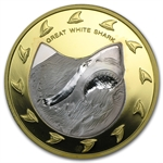 Cook Islands 2005 150 Dollar Gold/Silver Proof Great White Shark