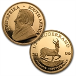 2006 So. Africa 4-Coin Gold K-Rand Proof 20th Ann. Set AGW=1.85