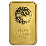 10 oz Gold Bar - Brand Name - .999+ Fine