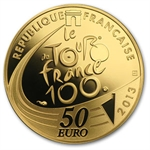 2013 1/4 oz Gold Proof 100th Edition Tour de France