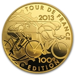 2013 5 oz Gold Proof 100th Edition Tour de France