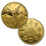 2013 1.9 oz Gold Mexican Libertad 5-Coin Proof Set (w/Box & CoA)