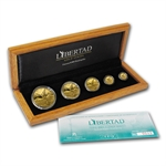 2013 1.9 oz Proof Gold Libertad 5-Coin Set (w/Box & CoA)