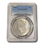 1894 Morgan Dollar Almost Uncirculated-58 PCGS - Key Date