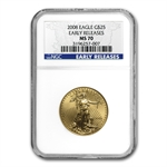 2008 4-Coin Gold American Eagle Set MS-70 NGC Early Releases