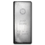 100 oz Royal Canadian Mint RCM Silver Bar (2010) .9999