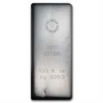 100 oz Royal Canadian Mint RCM Silver Bar (2011) .9999