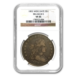 1802 Draped Bust Dollar Very Fine-35 NGC Wide Date