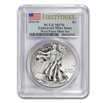 2013 American Silver Eagle West Point Set MS/PF-70 PCGS FS
