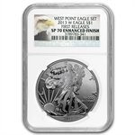 2013-W (Enhanced Finish) Silver Eagle SP-69 NGC Early Releases