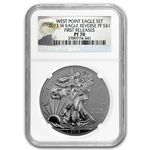 2013 American Silver Eagle West Point Set MS/PR-70 NGC ER
