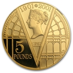 Great Britain 2001 5 Pounds Gold Proof Victoria PF-69 UCAM NGC