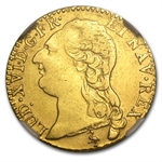 France 1786-A Louis D'or Gold NGC AU-53