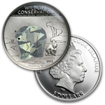 Cook Islands 2013 Silver Wildlife Conservation-Prism - 3 Coin Set