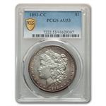 1893-CC Morgan Dollar Almost Uncirculated-53 PCGS