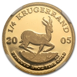 2005 1/4 oz Gold South Africa Krugerrand NGC PF-66 UCAM