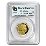 2008-W 1/4 oz Gold Buffalo PR-70 PCGS First Strike Black Diamond