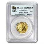 2008-W 1/4 oz Gold Buffalo MS-70 PCGS First Strike Black Diamond