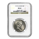 1918 Lincoln - Illinois MS-62 NGC