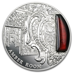 Niue 2012 Proof Silver $2 - Mysteries of History - Amber Room