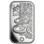 1 oz Rand Refinery Silver Bar - Year of the Snake .999 Fine