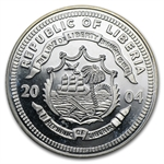 Liberia $20 1 Oz Silver Proof Details Random Dates