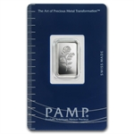 2.5 gram Pamp Suisse Silver Bar - Rosa (In Assay)
