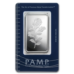 1 oz Pamp Suisse Silver Bar - Rosa (In Assay)