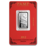 10 gram Pamp Suisse Silver Bar - Year of the Dragon (In Assay)
