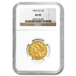 1893-CC $5 Liberty Gold Half Eagle - XF-45 NGC