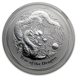 2012 1/2 oz Silver Lunar Year of the Dragon Coin NGC MS-69